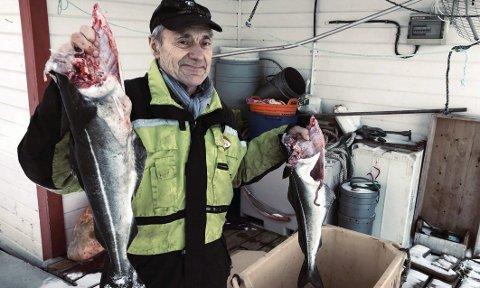 Fornøyd: Walter Danielsen er fornøyd med livet som yrkesfisker og har ingen planer om å gi seg så lenge helsa holder. – Å sitte hjemme i sofaen, passer ikke for meg, sier han. Foto: Øyvind A. Olsen