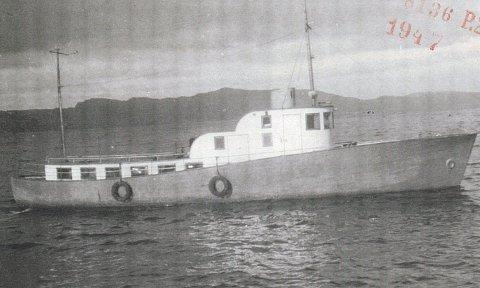 Den 41 fots store båten ble bygd i 1935.  Mange motstandsfolk ble banket opp og forhørt om bord i båten. FOTO: Justismuseet