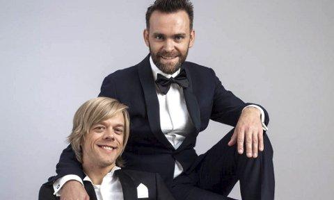 Sammen: Vidar Magnussen og Calle Hellevang-Larsen har premiere på showet «Sammen igjen for første gang» 7.                               februar. De har gått på samme ungdomsskole og er like gamle, men har aldri kjent hverandre. Med på laget er også Bård Ylvisåker og Erik Ulfsby på regi.foto: Presse
