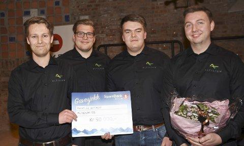 INNOVATIVE Gründere: Kjell Ole Sønsteby (t.v.), Torgrim Ingvoldstad, Jonas Myhren og Øyvind Kristiansen.