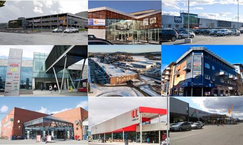 Hvor kan du ferdes på hvilke kjøpesentere i byen? Her får du oversikten.