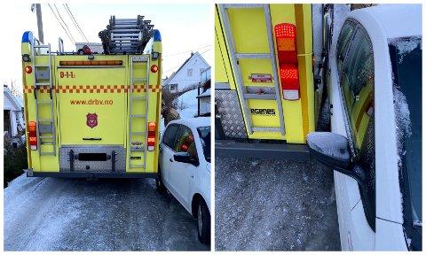 ET REELT PROBLEM: Det kan fort skje at brannvesenet ikke kommer forbi parkerte biler. På vinteren er det er reelt problem, forteller brigadesjef Gjermund Christiansen til Drammens Tidende.