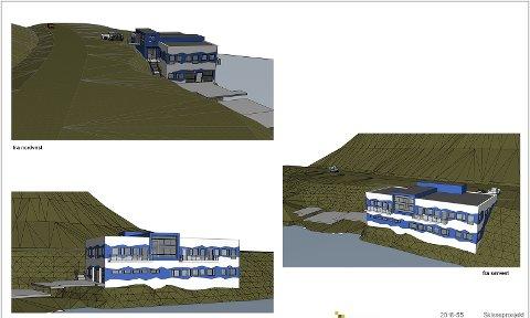 Slik ser man for seg at nybygget på Sarnes skal se ut når det er ferdig.