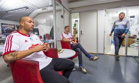 HENTET INN: Kristian Brix (til venstre) og Patrik Karoliussen er klare for FFK under Jan Halvor Halvorsens ledelse. Fotp: Erik Hagen