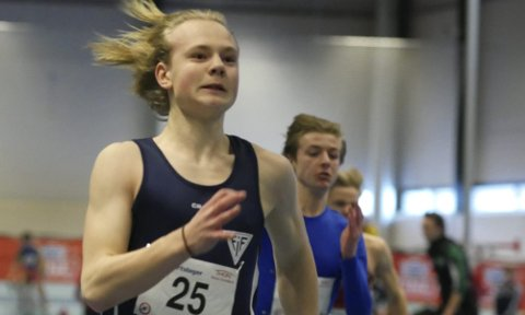 IMPONERTE: Didrik Grøm imponerte med seier på 200 meter under Tyrvinglekene.