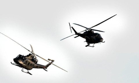 STØY: Luftforsvaret meller at personer som er bosatt i øvningsområdene må forvente støy fra helikopterne.