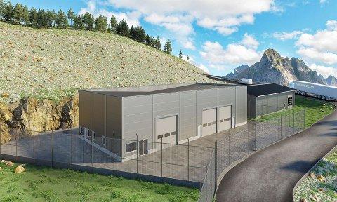 Dette bygget skal stå klar på Skurve i løpet av sommeren.