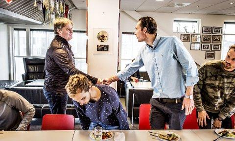 MØTET: Bjørn Petter Ingebretsen brukte dagen på å bli kjent med resten av laget.