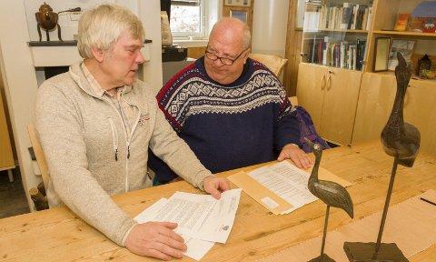 Brevet: Ivar Skulstad (t.v.), og Lorents Moe tok affære og sendte brev til den kypriotiske miljøvernministere, Nå har de fått svar som gir optimisme. Bilder: Kjell R: Hermansen