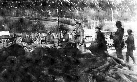 Tyske soldater under kampene i Kvam april 1940.