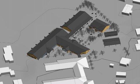 Slik ser Rik arkitektur for seg det nye bofellesskapet i Ringebu.