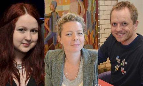 Renate Espe Aase, Hedvig Moe og Joakim Sørå.