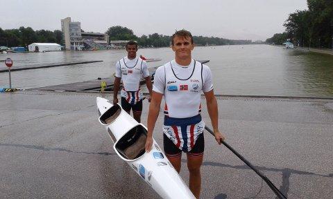 TUNGE TAK: Lars Magne Ullvang (foran) og makker Hakeem Teland.