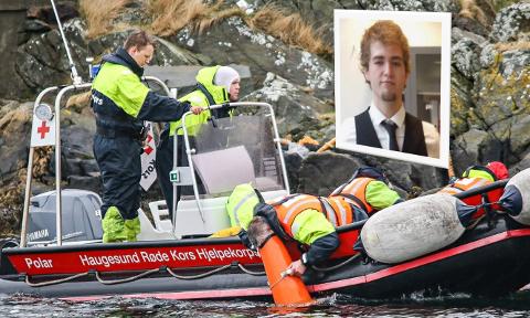 Fotomontasje: Det har blitt gjennomført flere søk i sjøen rundt Åkrehamn. Foreløpig uten resultat.