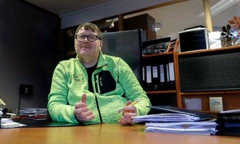 HAR LIKT SEG PÅ JOBB: Henrik J. Gundersen i Haugaland Caravan i Frakkagjerd.