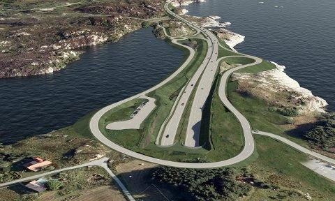 VIKTIG: Rogfast vil korte reisetiden mellom Stavanger og Haugesund/ Bergen med 40 minutter, skriver innsenderne. ILL: Statens vegvesen / Cowi