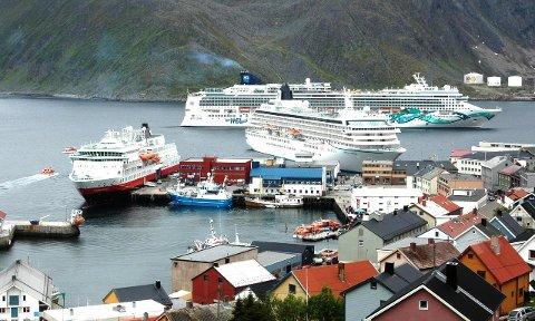 PÅ 2. PLASS: Selv om både Alta og Harstad har fått flere cruisbåter på besøk, så er det Nordkapp etter Tromsø som det mest populære cruiseanløpet i Nord-Norge.