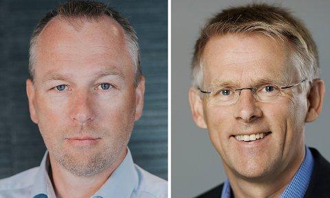 Konsernsjef Morthen Bakke i Bakkegruppen (t.v.) og administrerende direktør Johnny Brevik i BORI BBL.