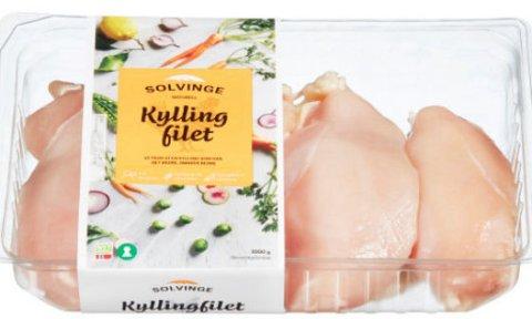 TREKKES FRA MARKEDET:Norsk kylling trekker tilbake en rekke produkter fra Solving og Prima, etter mistanke om salmonella.