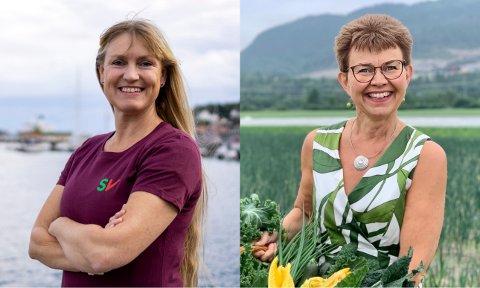 PÅ GOD VEI MOT STORTINGET: SVs Grete Wold (t.v.) og SPs Kathrine Kleveland.