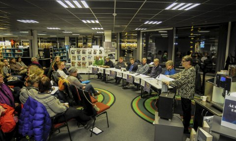 Skoledebatt: Sist Kongsbergdebatten ble arrangert, var Kongsbergskolen tema. FOTO: IRENE MJØSENG