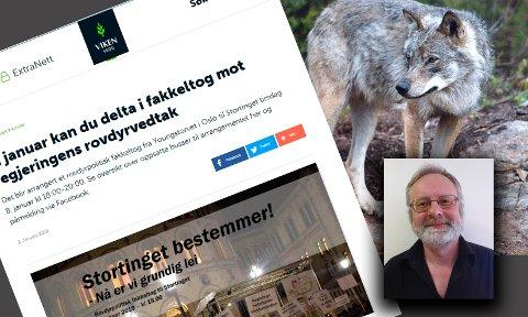 BØR LIGGE UNNA: Hans Beltesbrekke (innfelt) er kommunepolitiker (Ap), skogeier og andelshaver i Viken Skog. Han mener de burde holde seg langt unna rovdyrdebatten.