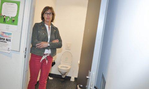 Skittent: Renhold av toalettene som brukes av 1.-4.-trinn og SFO ved Høvik skole ble besluttet redusert. Det fikk FAU-leder Kristin Hovland Marfi til å reagere.