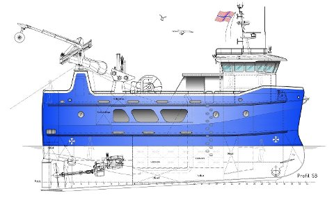NYTT: Båten blir 20,90 meter lang og syv meter bred. Den blir rigget for snurrevad.