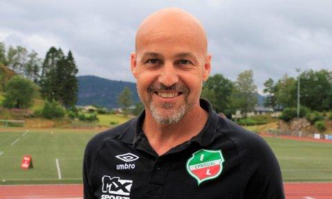 MØTE: Hovedtrener Jan Ove Pedersen forbereder et nytt møte med A-lagsstallen i Lyngdal IL etter at fotballforbundet avlyste 2020-sesongen i dag.
