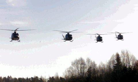 TIL RYGGE: 15 Bell 412 helikoptere skal være på plass på Rygge i løpet av 2021. På grunn av ambulansesituasjonen i Nord-Norge henger man litt etter skjema.