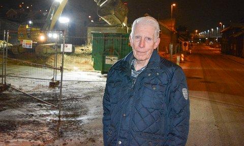 MÅTTE VIKE: Bjørn Bjurstrøm måtte flytte fra Værlegata til Mosseskogen for å gi plass for den nye jernbanen gjennom Moss.