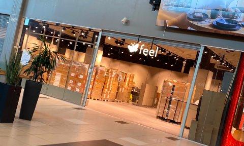 ÅPNER SNART: Feel innreder i disse dager den nye butikken på Rygge storsenter.