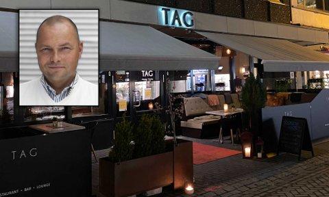 REAGERER: André Marius Grøtte, daglig leder ved Tag restaurant og nattklubb i Midtbyen, har klare meninger om de nye nasjonale reglene.