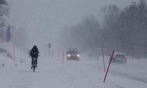 VANSKELIGE KJØREFORHOLD: De to neste dagene er det ventet at en kraftig østavind vil føre til mye snøfokk ved utsatte steder i Troms. Det kan gi vanskelige kjøreforhold. Arkivfoto: Ola Solvang