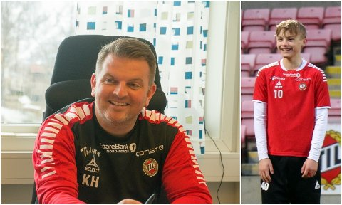 DIREKTØR OG FOTBALLTALENT: TIL-direktør Kristian Høydal er enig med Manchester United om en avtale for hvordan de skal tilrettelegge for Isak Hansen-Aarøen i det drøye året han skal være i klubben før han tar overgang til den engelske storklubben når han fyller 16 år.