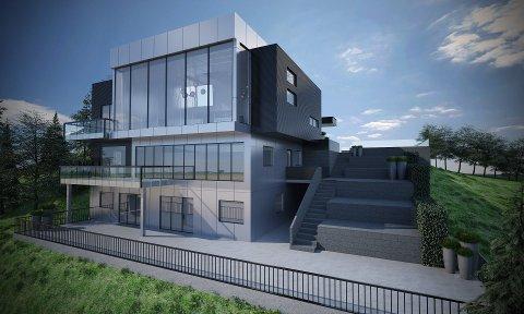 BETONG-LEVERANDØR: Alt av betongarbeidet i luksusboligen til Bjørn Cato Traasdahl er gjort av Tromsø Betong Team AS.