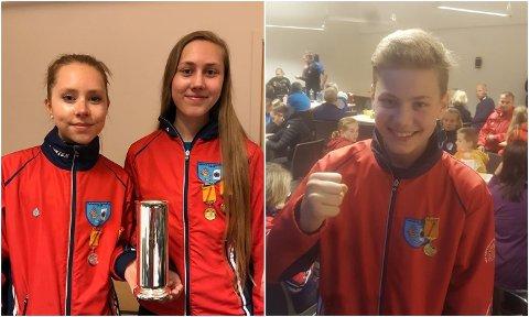 NM-VINNERE: Både Emma Eliassen, Torinn Håkstad og Njård Håkstad kunne juble for NM-gull på skogsløp i går.