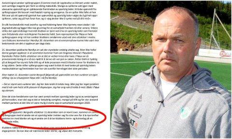 TILSPISSER SEG: En samlet A-spillergruppe blant herrene i Fløya har i et brev til klubbens styre bedt om at sportslig leder Bård Bergvoll (t.h.) trekker seg fra sine verv.