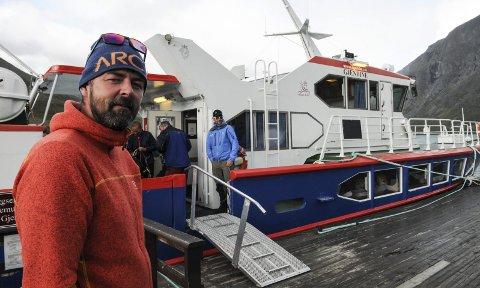 Øker kapasiteten: Harald Rune Øvstedal og Gjendebåtene skal supplere dagens «Gjendine» med en rask katamaran. Da tas «Gjende III» ut av trafikk, etter å ha vært i rute på innsjøen siden 1982. Foto: Ingvar Skattebu