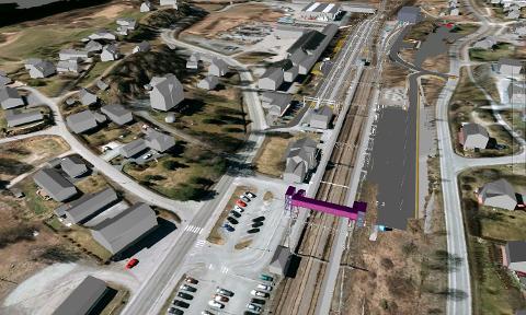 SÅNN BLIR DET: Skisse over Jaren stasjon, slik den skal se ut fra sommeren 2022.