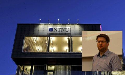 FÅR TILBUDET: Nils Kalstad (innfelt) får tilbud om å bli viserektor ved NTNU Gjøvik de neste fire årene.