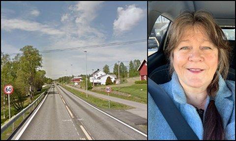 FANT PAPEGØYE: Christine Bakke-Nilssen Horseng fant en papegøye på riksvei 4 ved Eina. Hun etterlyser eieren på Facebook.