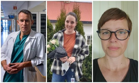 POSITIVE: Lege Lars Olav Fjose er positiv til vedtaket i Helse Sør-Øst. Sykepleierforbundets tillitsvalgte Kristina Bruset og Kristin Sande er også glad for at en beslutning er tatt, men også bekymret.