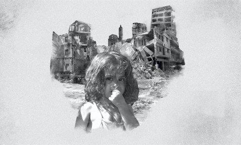 Tv-aksjonen: Årets tv-aksjon er tildelt Røde Kors som håper å kunne gi livsviktig hjelpe til mer enn to millioner mennesker i konfliktområder i verden. illustrasjon