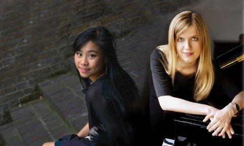 KONSERTKLARE: Julie Yuqing Ye og Olga Jørgensen har satt sammen et program med kvinnelige komponister i fokus, men med et av firhendiglitteraturens standardverk