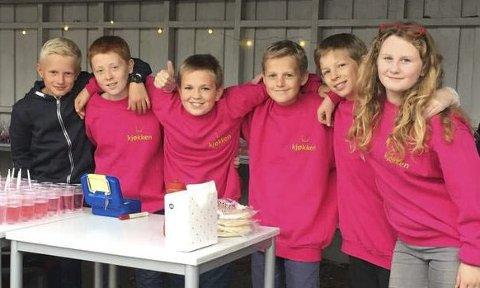 Kjøkkengruppa: Er blant de mange VIS-prosjektene elevene ved Jordet skole gjennomfører.