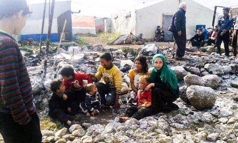 Barna til Zuher før mine-ulykken.