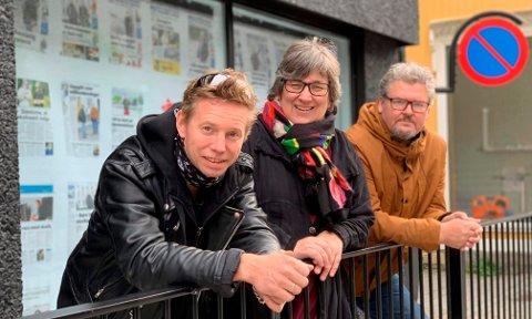 KLARE FOR FIRE NYE ÅR: Pål Berby og Fredrik Botnen Nordahl er klare for fire nye år i bystyret. I den kommende perioden får de også med seg kona til Botnen Nordahl, Gitte Slåtta. – Det er ikke uvanlig med familierelasjoner i politikken, smiler de.