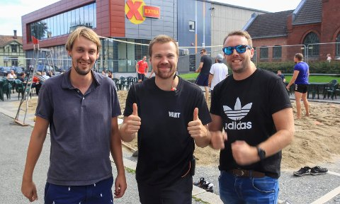 KLARE FOR FEST: Christian Sjøsåsen, Sondre Thorsen og Thomas Kittilsen.