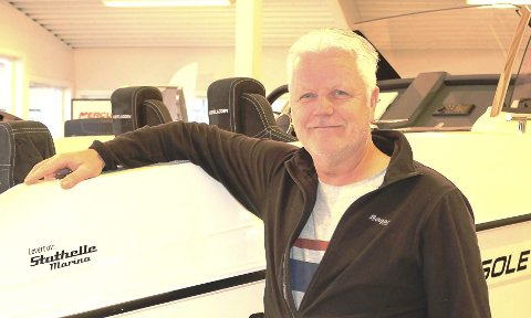 BÅT: Tony Bakos har utbyggingsplaner for Stathelle Marina.